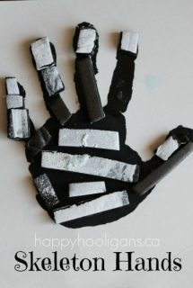 skeleton handprint craft