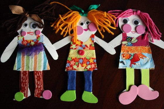 3 Homemade Paper Dolls for Preschoolers