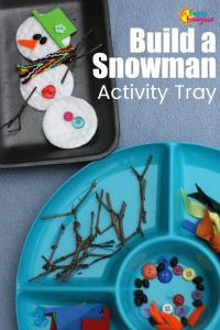 Build a snowman activity for toddlers and preschoolers