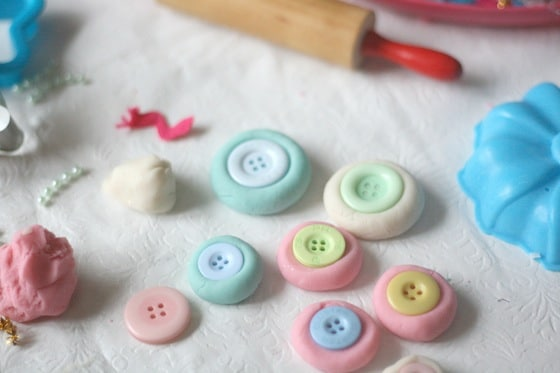 Christmas play dough button cookies