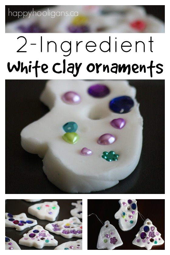 How to make white clay dough ornaments cornstarch and baking soda