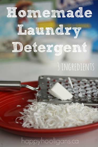 DIY Laundry Detergent Recipe Ingredients