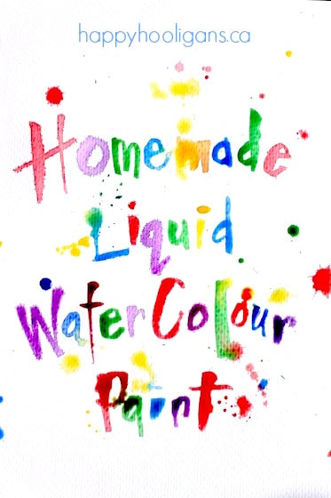 Homemade Liquid Watercolours made from dried up markers
