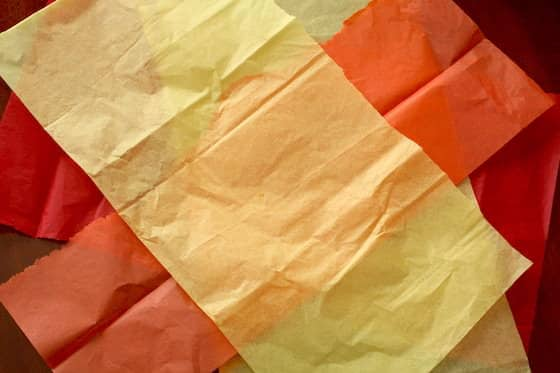 orange red and yellow tissue paper
