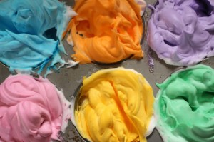 Shaving Cream and Food Colouring Paint