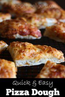 Quick and Easy No-Knead, No-Rise Pizza Dough Recipe