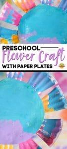 preschool flower paper plate
