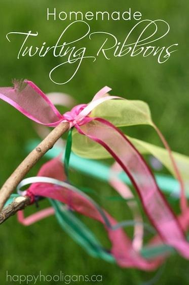 Homemade Twirling Ribbons