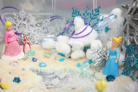 Anna and Elsa Sensory Bin