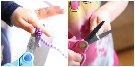 cutting practice with beads