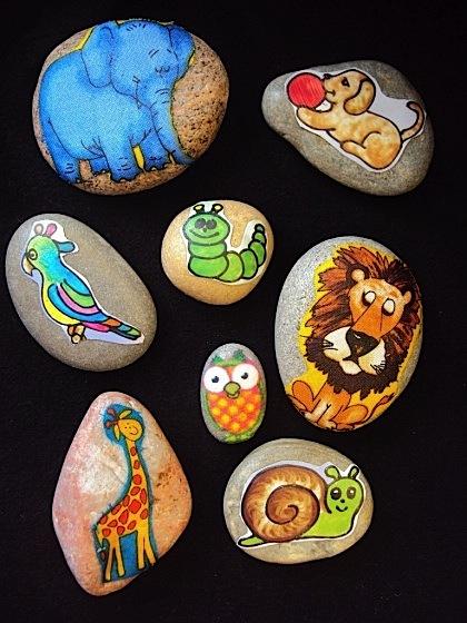 Homemade Story Stones (animal theme)