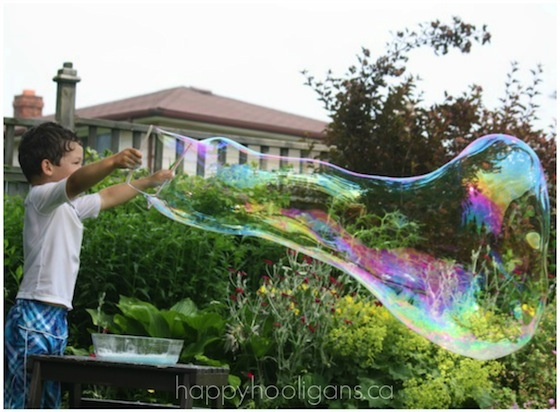 Giant Homemade Bubbles Science Activity