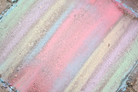 creating watercolour images with chalk and water