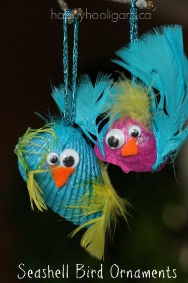Seashell Bird Ornaments