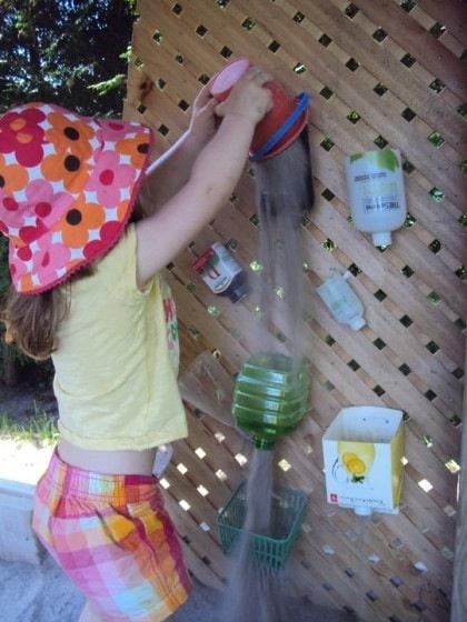 toddler sand wall in sandbox