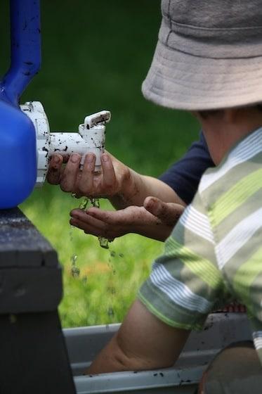 water jug in the play yard