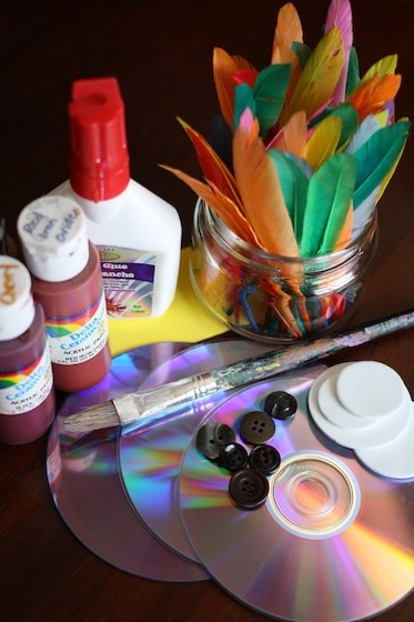 supplies for cd owl craft