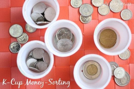k-cup money sorting activity