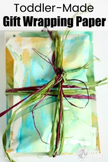 Homemade Gift Wrapping Paper Kids can Make