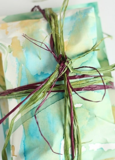 homemade gift-wrapping paper kids can make