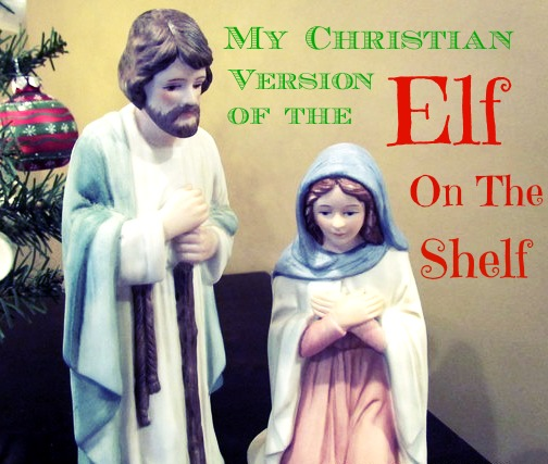 Mary and Joseph elf on the shelf