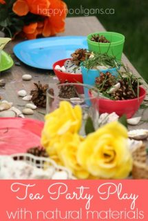 flower tea party activity