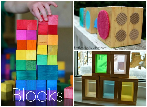 colour and texture blocks to make for kids