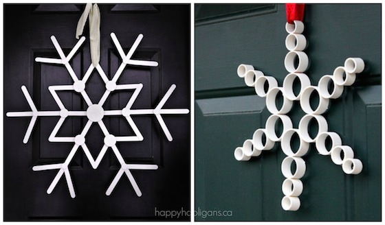 snowflake door decorations