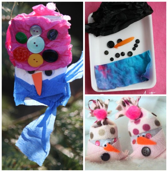 snowman ornaments and activities