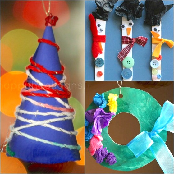 30 easy kids christmas ornaments to make at home 30 easy kids christmas ornaments to