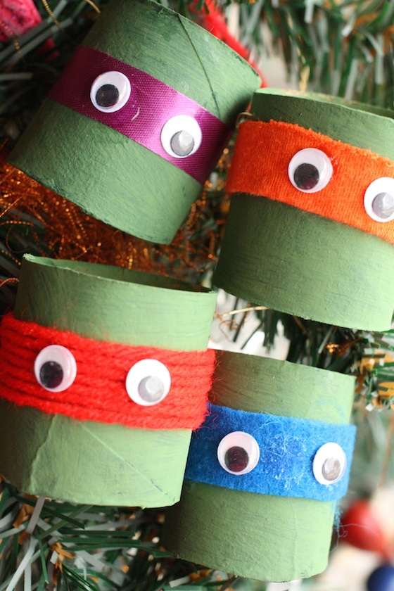 homemade mutant ninja turtle ornaments