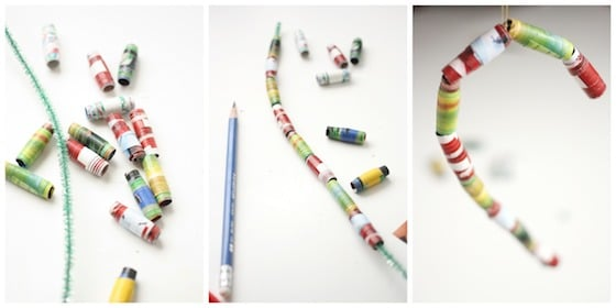 making paper bead ornaments