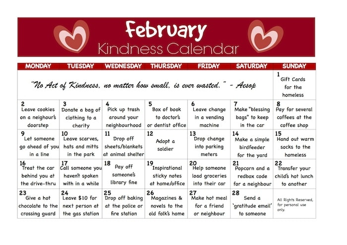 Kindness Calendar - Happy Hooligans copy