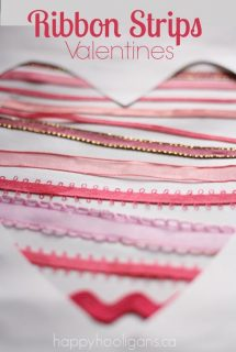 Ribbon Heart Valentines Cards