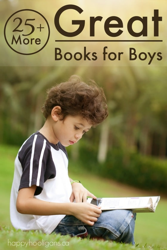 25+ More Great Books for Boys - Happy Hooligans