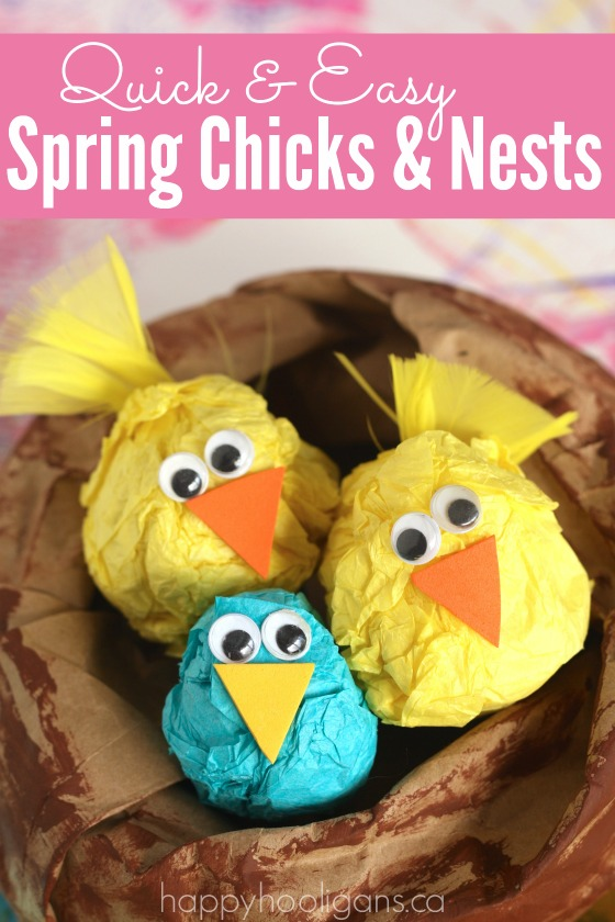 Easy spring chick craft for preschoolers