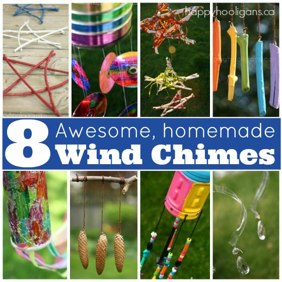 8 homemade wind chimes kids can make