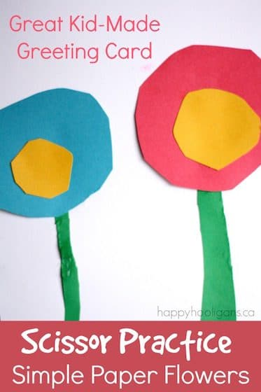 Paper Flowers for a Kid-Made Greeting Card copy