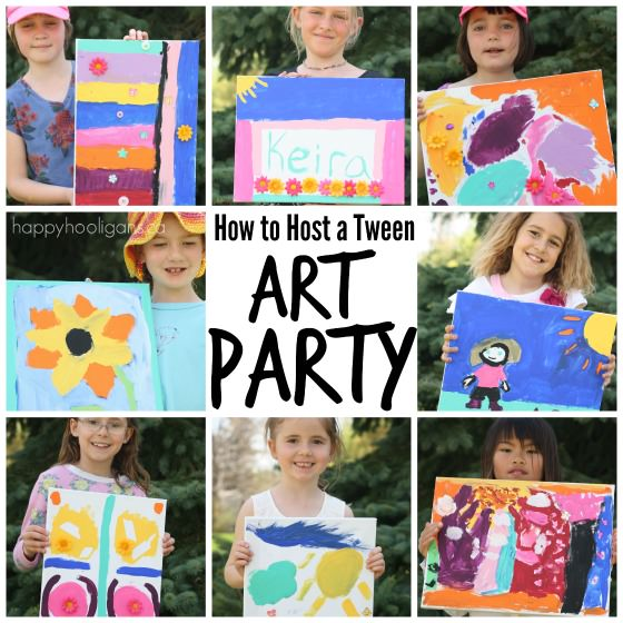 art themed birthday party activity