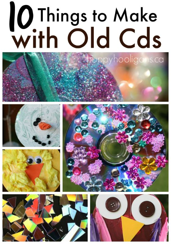 10 Terrific Crafts to Make with Old, Scratched CDs and DVDs - Happy Hooligans