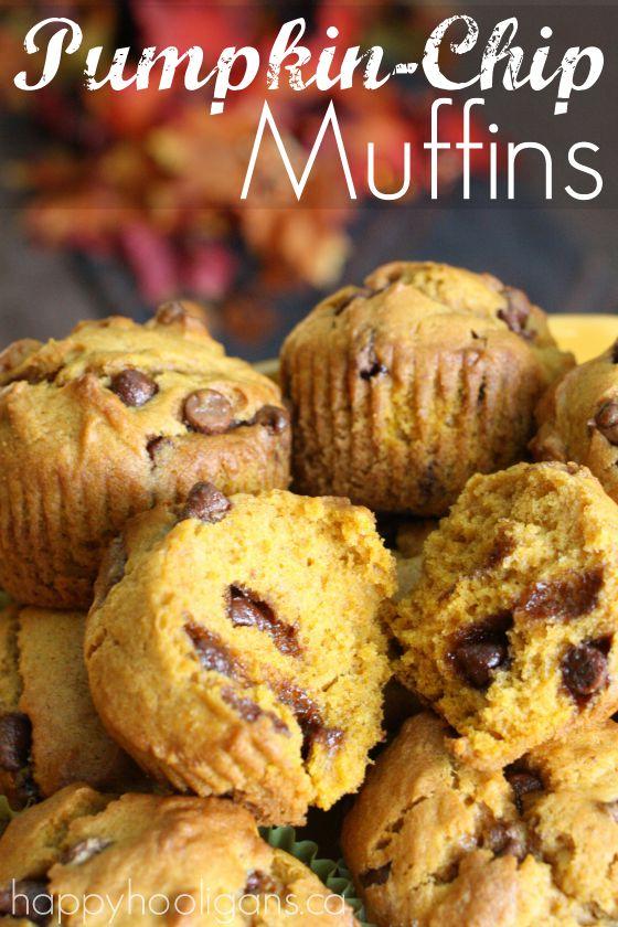 Pumpkin Chocolate Chip Muffins - Happy Hooligans