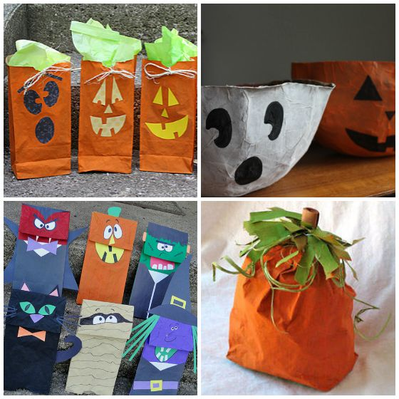 halloween paper bag crafts