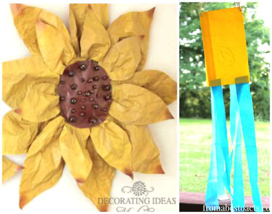 paper bag sunflower and paper bag wind sock copy
