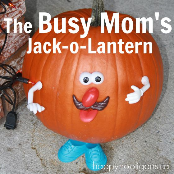 quick and easy jack-o-lantern