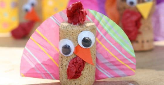 wine cork turkey craft