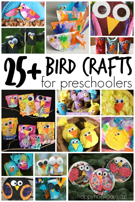 25+ Bird Crafts for Kids