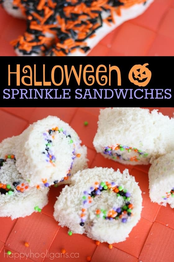 Halloween sprinkle sandwiches - Happy Hooligans