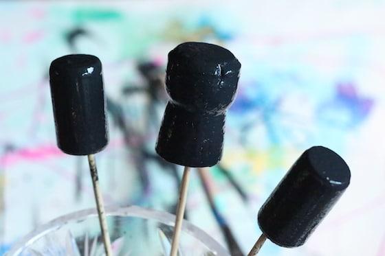 black wine corks