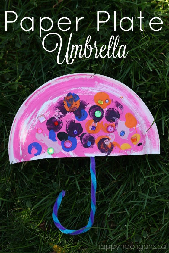 Paper Plate Umbrella - Happy Hooligans