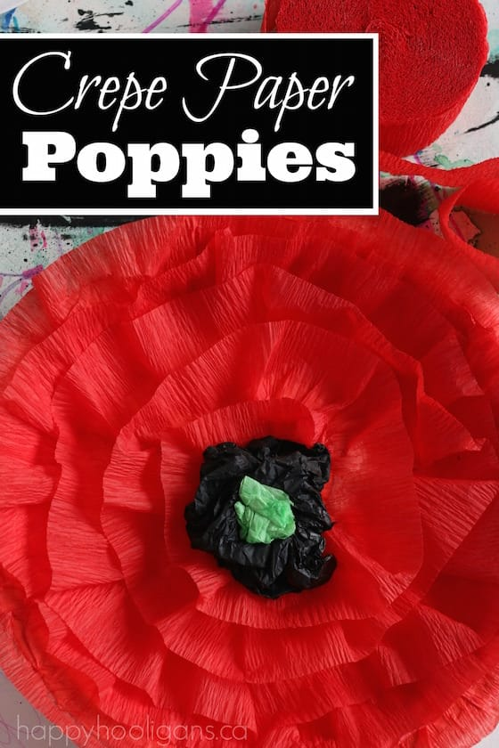 Crepe Paper Poppies